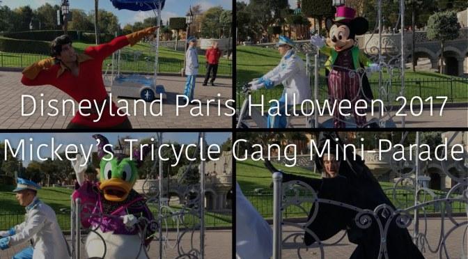Disneyland Paris Halloween 2017 Mickey's Tricycle Gang Mini Parade