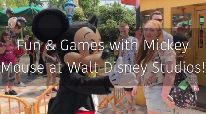 Fun & Games with Mickey Mouse at Walt Disney Studios Paris